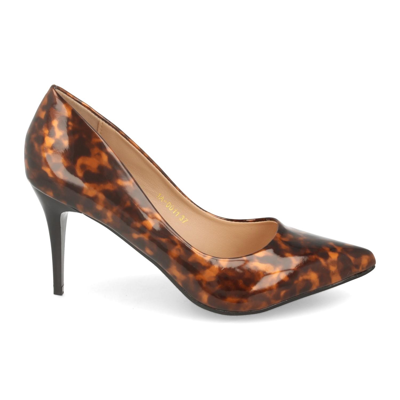 Zapato de Salon con Tacon de Aguja y Estampado